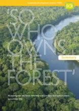 So Who Owns the Forest? Summary